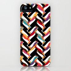 herringbone penguin iPhone (5, 5s) Slim Case