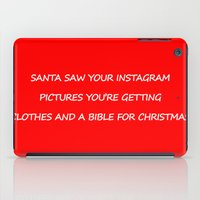 instagram iPad Cases featuring Christmas - Instagram by Rothko
