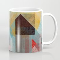 calvin Mugs featuring Over mountains by Efi Tolia