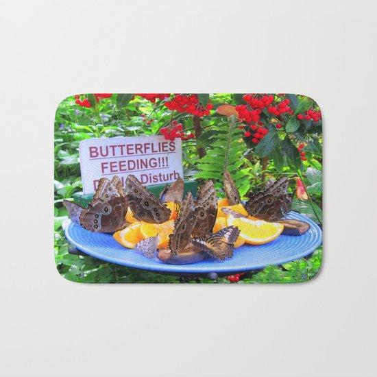 Butterfly | Butterflies Feeding v.2 Bath Mat