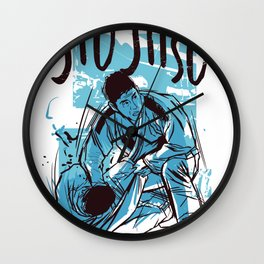 Jiujitsu t-shirt Wall Clock