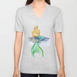 Mermaid Watercolor Unisex V-Neck