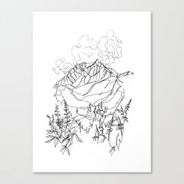 Lupine Time :: Single Line Canvas Print