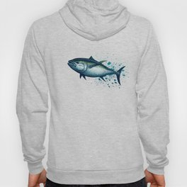 Bluefin Tuna ~ Watercolor Painting by Amber Marine,(Copyright 2016) Hoody