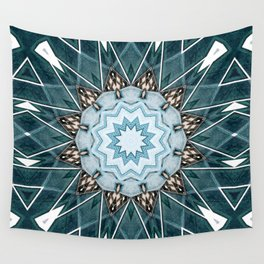 Structural Turquoise Mandala Wall Tapestry