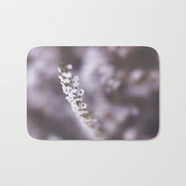 The Smallest White Flowers 02 Bath Mat