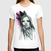 downton abbey T-shirts featuring Watercolour Fashion Illustration Portrait Abbey Lee by Elise Reid