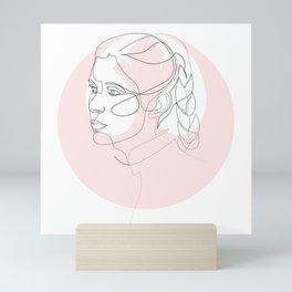 Princess Organa - single line art Mini Art Print