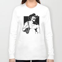 cowboy Long Sleeve T-shirts featuring Cowboy by Fast Drip