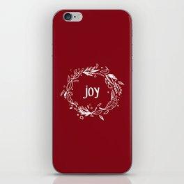 Joy in white iPhone Skin