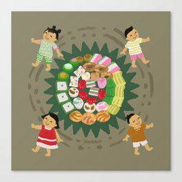 Indonesian Marketplace Nibbles Canvas Print