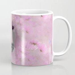 PINK WOLF FLOWER SPARKLE Coffee Mug