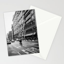 New York City Bicycle Ride in Soho Stationery Cards