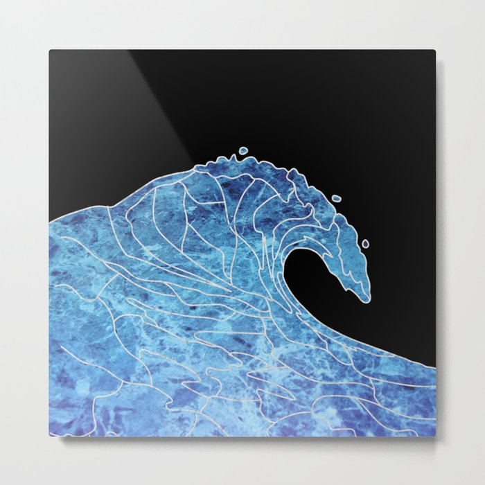 Abstract wave Metal Print