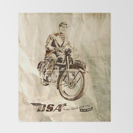 BSA - Vintage Poster Throw Blanket