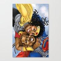 superheros Canvas Prints featuring Super Croslands by Geninne John-Crosland