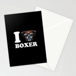 I Love Boxer modern v2 Stationery Cards