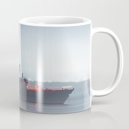 Warship Weighs Anchor Coffee Mug