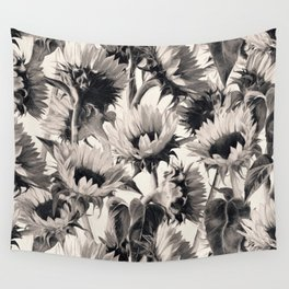 Sunflowers in Soft Sepia Wall Tapestry
