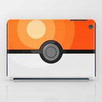 pokeball iPad Cases featuring Orange Pokeball by Amandazzling