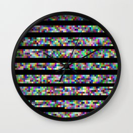 Earn Your Pixels Wall Clock