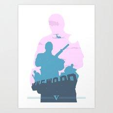 GTA V - MICHAEL DE SANTA Art Print