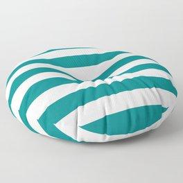 Horizontal Stripes (Teal/White) Floor Pillow