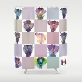 Verronica Kirei's Vulva Portrait Quilt Shower Curtain