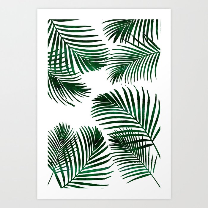 tropical palm leaf art print by naturemagick society6