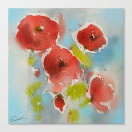Roses (watercolor) Canvas Print