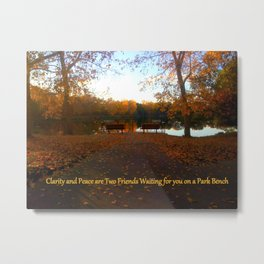 Bench Time Metal Print
