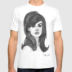 Jean Shrimpton SMALL Mens Fitted Tee White