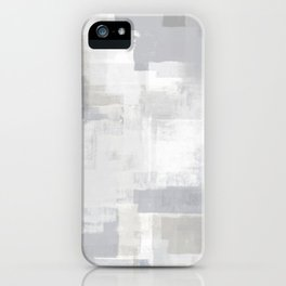 Gray on Grey Abstract iPhone Case