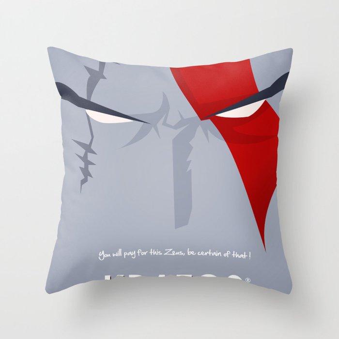 Vector Kratos Throw Pillow