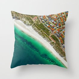 City and Shore (Color) Throw Pillow