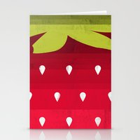 strawberry Stationery Cards featuring Strawberry by Kakel