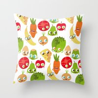 food Throw Pillows featuring Food by Peerro