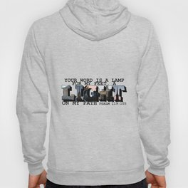 A Light on My Path Psalm 119:105 Big Letter Hoody