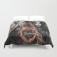 the lord of the rings Duvet Covers featuring kili,legolas,tauriel,the hobbit,lord of the rings by ira gora