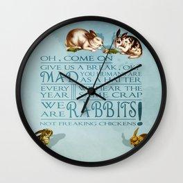 Freaking Rabbits Wall Clock