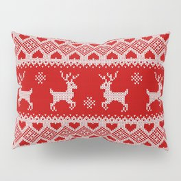 Knitted Deer Pillow Sham