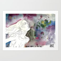 Breathe Through the Rough Times Art Print