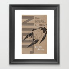 Join The Imperial Academy! Framed Art Print