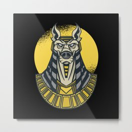 Anubis god of death ancient egypt pharao Metal Print