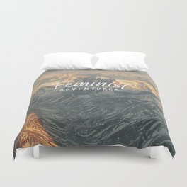 Feminist Adventurer Duvet Cover