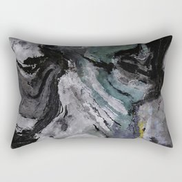 Gray Abstract Painting / Grey Minimalist Wall Art Rectangular Pillow