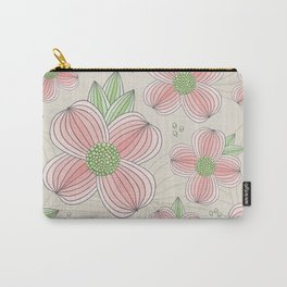 Dogwood Blossom Pattern Carry-All Pouch