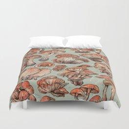 A Series of Mushrooms Duvet Cover