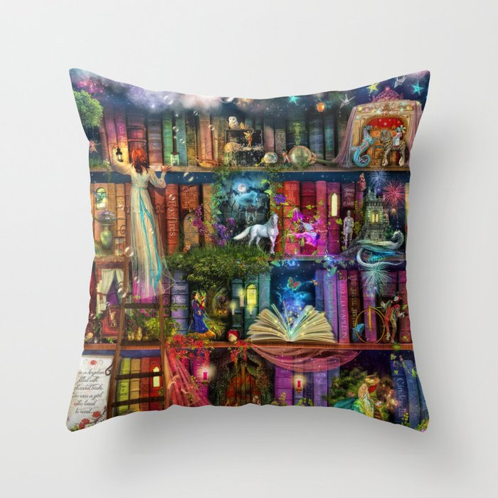 Whimsy Trove - Treasure Hunt Throw Pillow