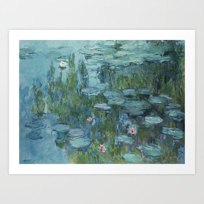 Monet, Water Lilies, Nympheas, Seerosen, 1915 Art Print